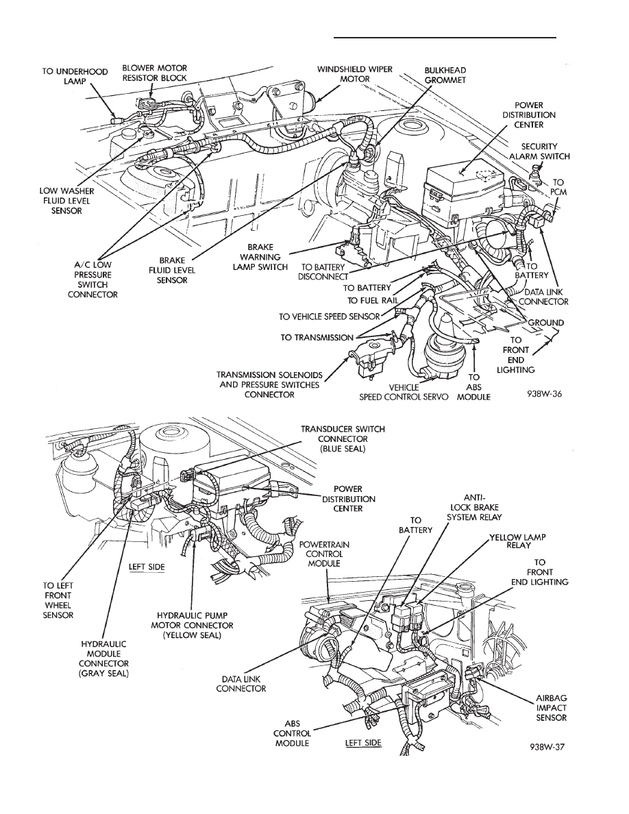 18 engine partment wiring 3 3l and 3 8l ay body