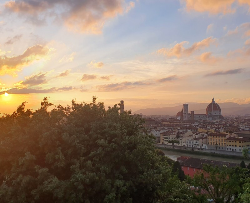 Sunset over Florence