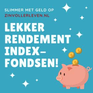 Lekker rendement indexfondsen zinvollerleven.nl vermogen indexbeleggen etf