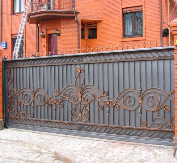 Купить Кованые откатные ворота от производителя