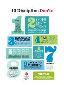 10 discipline children donts