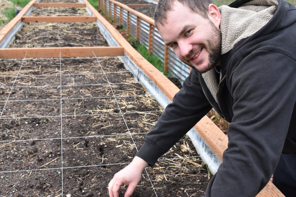 Planting in the Raised Bed Garden Boxes