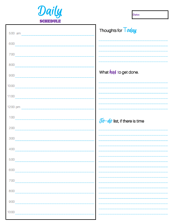 Schedule Your Day – In Four Easy Steps