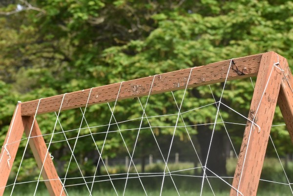 Connecting the A-frame trellis