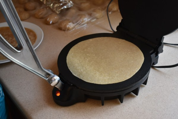 Whole wheat tortillas - cooking one