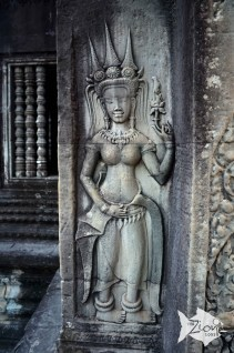 Apsara Statue at Angkor Wat; a female spirit of the clouds and waters in Hindu and Buddhist mythology.