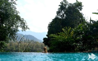 Overlooking Nam Khan river from the Elephant Lodge pool. Happy Valentine's Day!