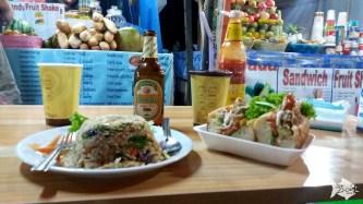 Dinner at Luang Prabang night market. BEST mini coconut pancakes in the world!