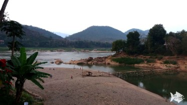 Where the Mekong and Nam Khan rivers meet, with stunning limestone cliff and jungle scenery.