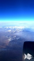Overlooking the Shah Albros mountain peak while flying over Iran.
