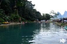 Vang Vieng's best little swimming hole, the Blue Lagoon III