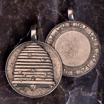 Pewter Beehive Medallion $29.95; Keychain $35.90