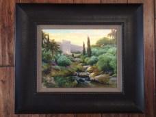 """Beautiful Gate"" by Linda Curley Christensen: 18×21 framed canvas $139.99; 12×14 framed print $34.99"