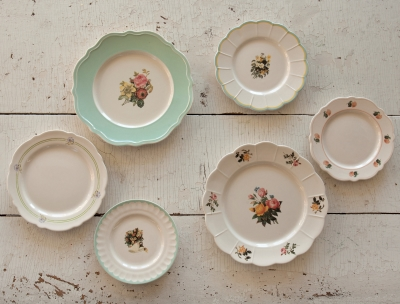 Ceramic Floral Plates Small $12.50; Large $19.95