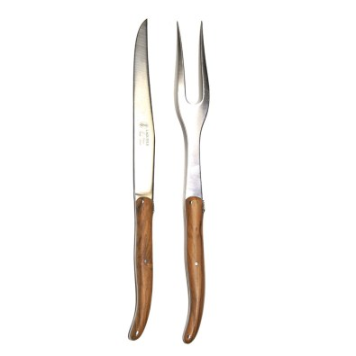Olive Wood Carving Set, Laguiole Made in France $72