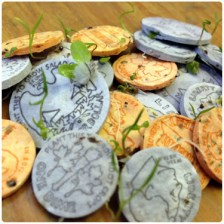 Seed Money $9. Plant these little coins they sprout into all sorts of herbs and wildflowers.