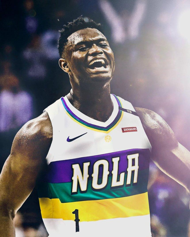 Zion in NOLA New Orleans Pelicans jersey