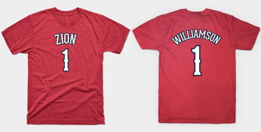 Zion Williamson name t-shirt