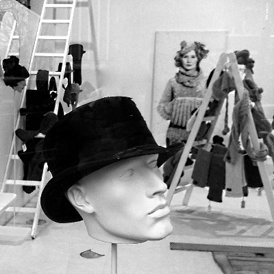 Top hat on mannequin head Fiona Bennett Berlin Germany