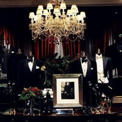 Ralph Lauren tuxes on manaquins
