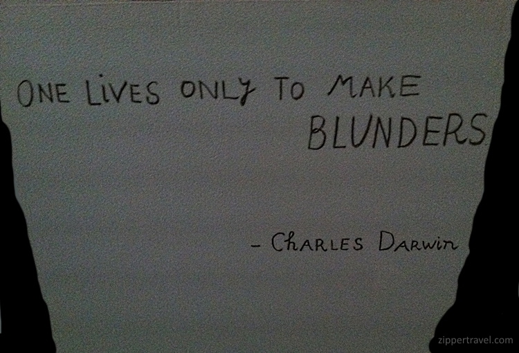 Quote by Charles Darwin selected by Maira Kalman at New York City's Cooper-Hewitt Design Museum
