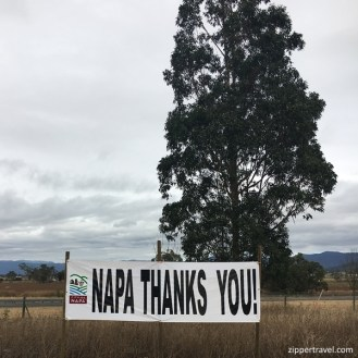 The City of Napa and all of its inhabitants thank everyone who has helped during and after the wild fires.