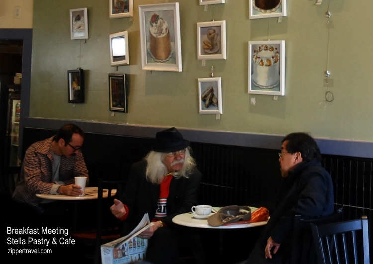 men talking stella pastry cafe north beach san francisco california