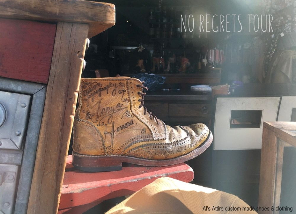 Window boot Al's Attire custom made shoes clothing north beach san francisco