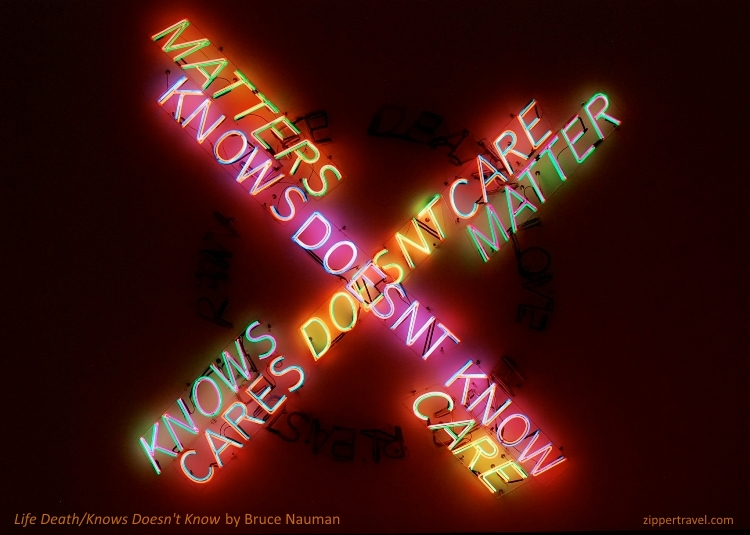 Bruce Nauman Life Death Knows Doesn't Know SFMOMA