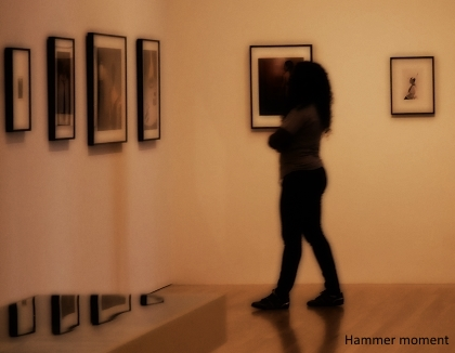 woman viewing photographs hammer museum los angeles