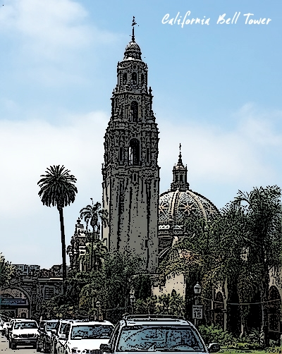 California Bell Tower Balboa Park