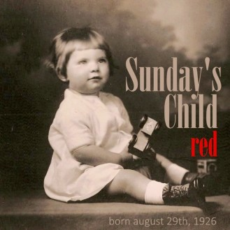 Jean Saden toddler picture commemorating 90th birthday