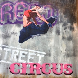 mural female dancer leaping circus circus casino reno