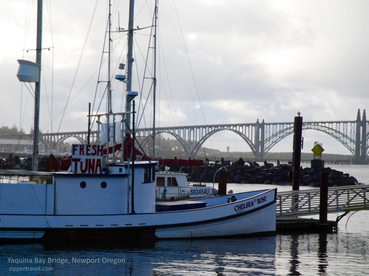 Fresh tuna boat Newport Oregon