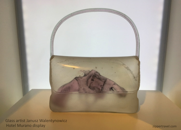 Glass gun purse Janusz Walentynowicz Hotel Murano Tacoma Washington