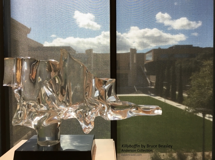 Killyboffin Bruce Beasley sculpture with view Anderson Collection Stanford University