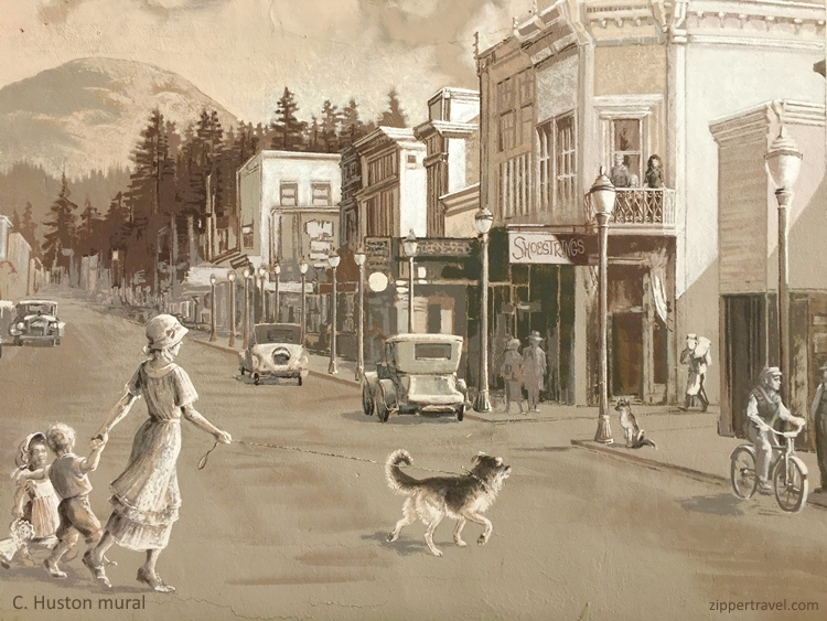 C. Huston Mural Street Scene Cottage Grove Oregon