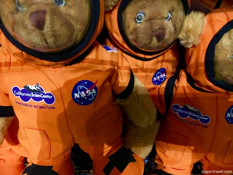 toy bears in space suits California Science Center