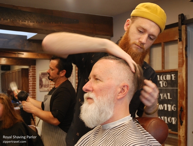 Steve at Royal Shaving Parlor Los Gatos Caliornia