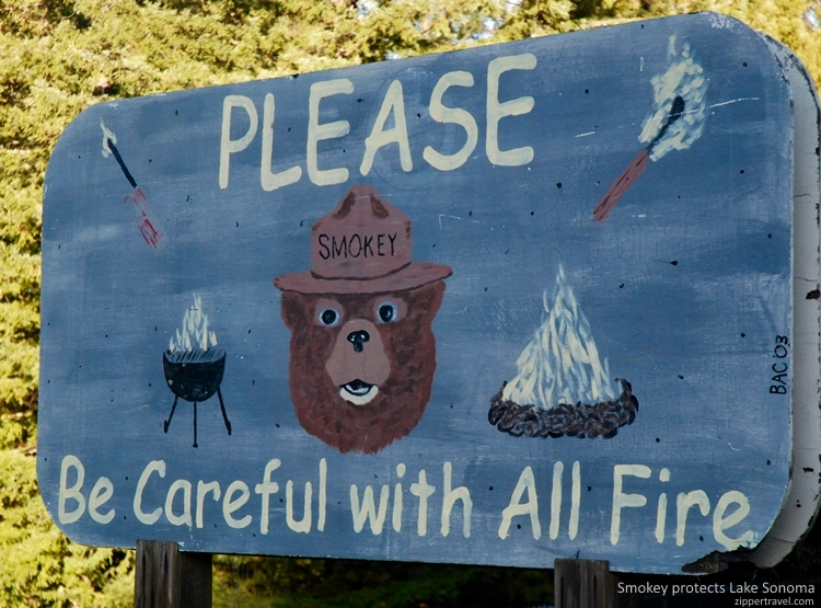 Smokey the Bear Lake Sonoma near Cloverdale California