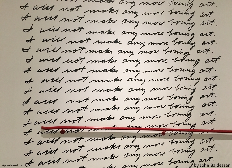 I will not make any more boring art John Baldessari MOCA Los Angeles