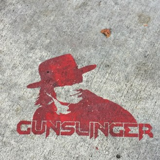 Gunslinger street strencil Los Angeles