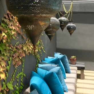 North Bloc lamps pillows poolside Napa's Best Pools