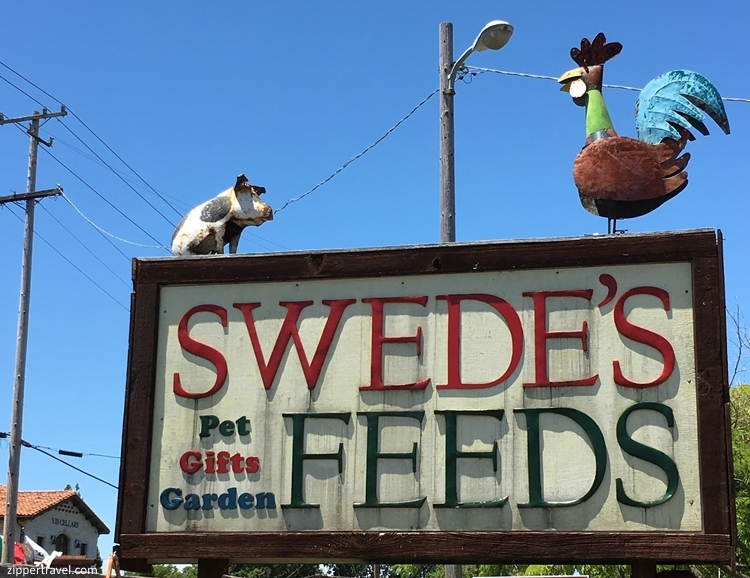 Swedes Feeds signage Valley of the Moon Sonoma