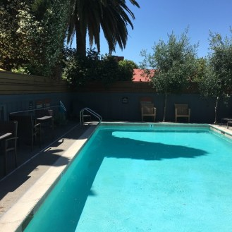 A small swimming pool tucked away in downtown Sonoma at the El Dorado Hotel & Kitchen