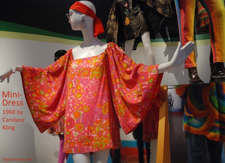 Candace Kling Butterfly wing mini-dress deYoung Museum Summer of Love revisited