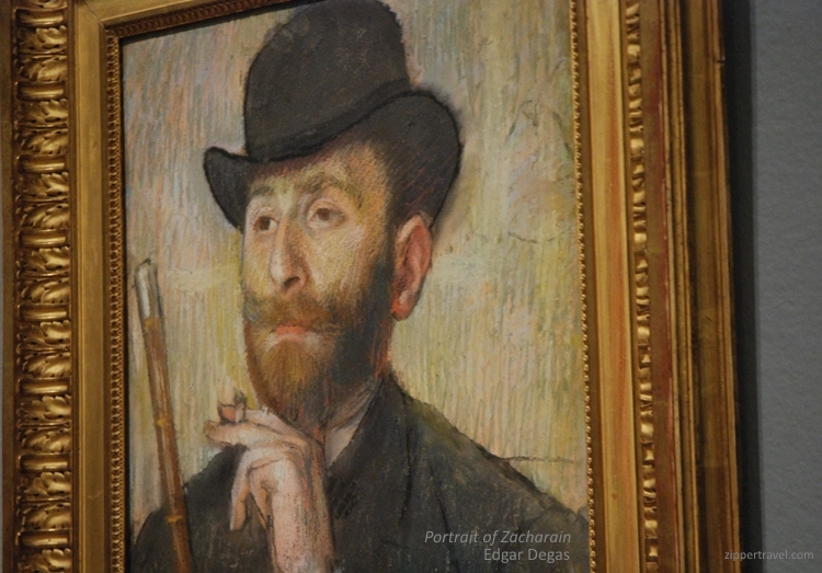 Edgar Degas Portrait of Zacharian Legion Honor hats San Francisco