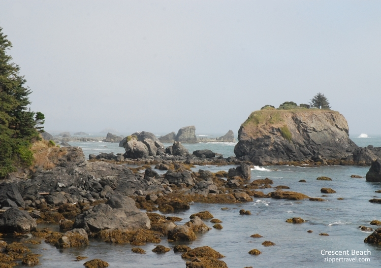 Crescent beach rock formations Crescent City California