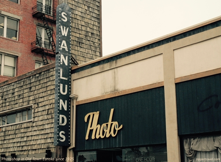Swanlunds Photo shop signage Old Town Eureka California