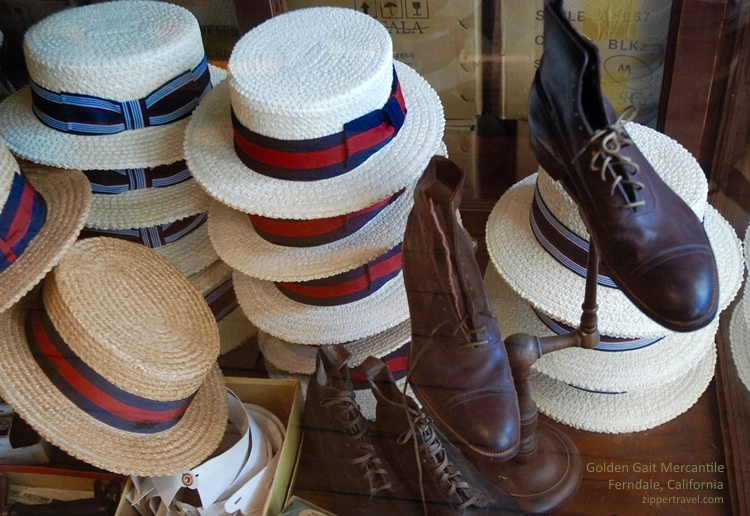 Hats Shoes Golden Gait Mercantile Ferndale near Eureka California